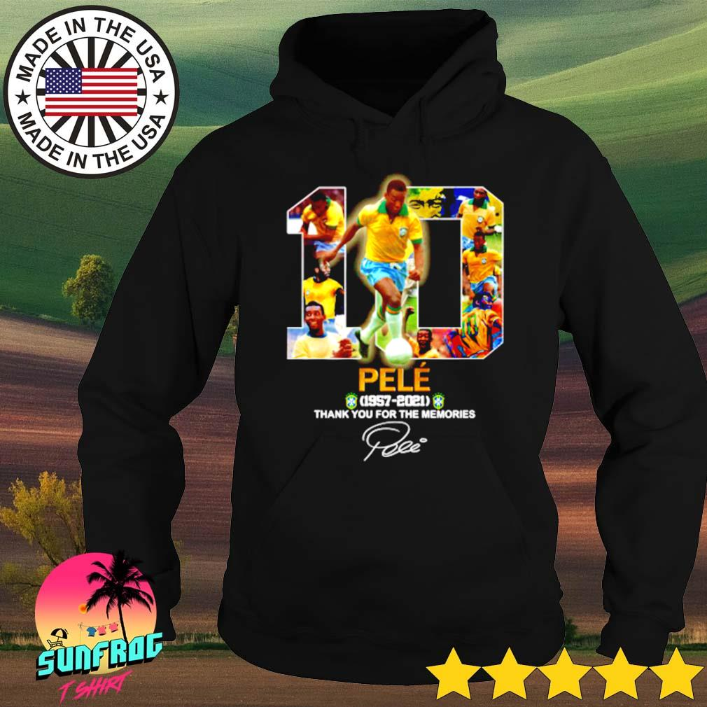 10 Pelé 1957-2021 thank you for the memories signature s Hoodie