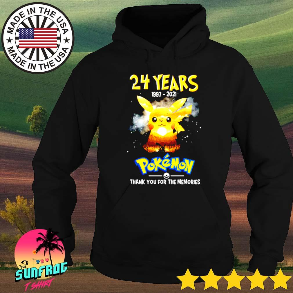 24 Years of Pokemon 1997-2021 signatures s Hoodie