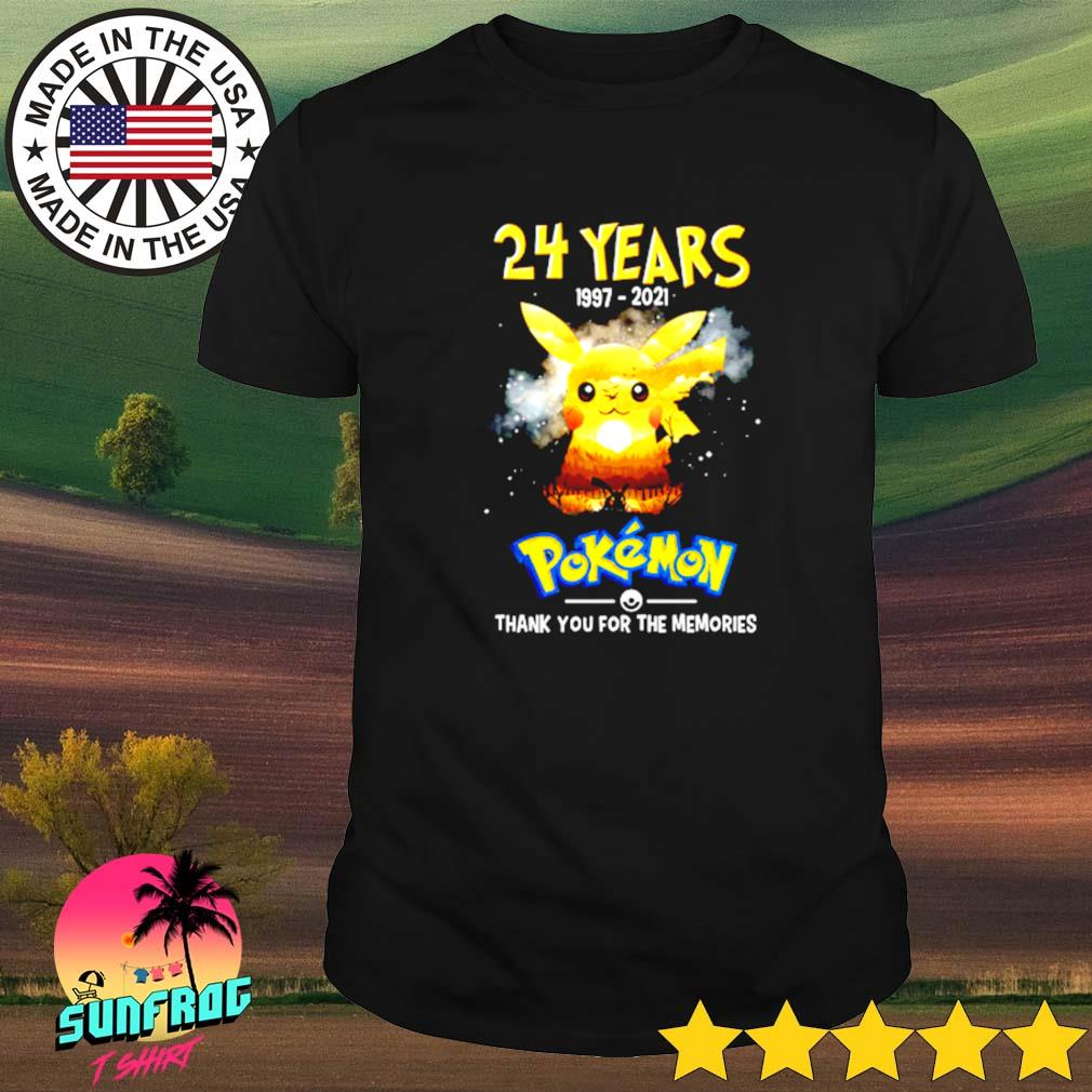 24 Years of Pokemon 1997-2021 signatures shirt