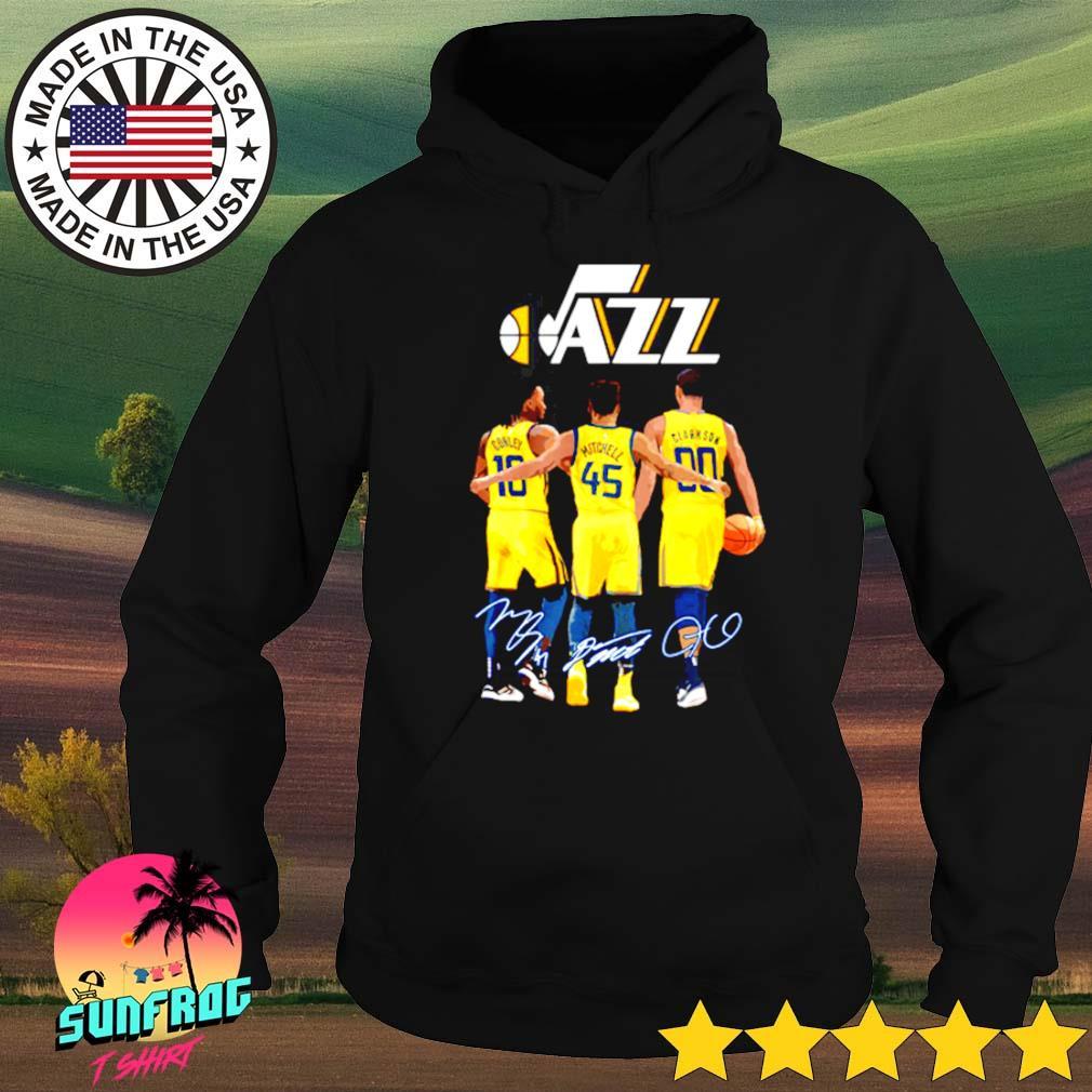 Conley 10 Mitchell 45 Clarkson 90 Utah Jazz signatures s Hoodie