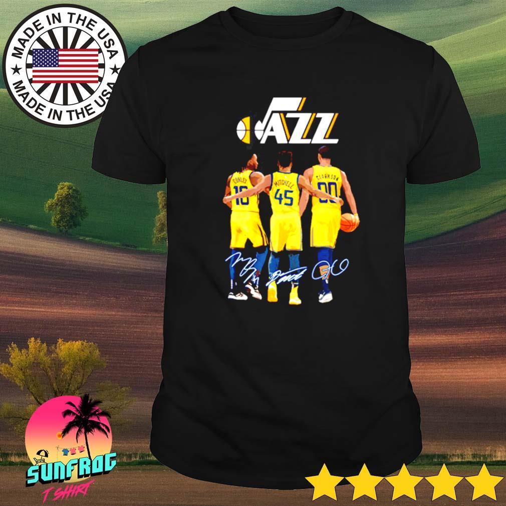 Conley 10 Mitchell 45 Clarkson 90 Utah Jazz signatures shirt