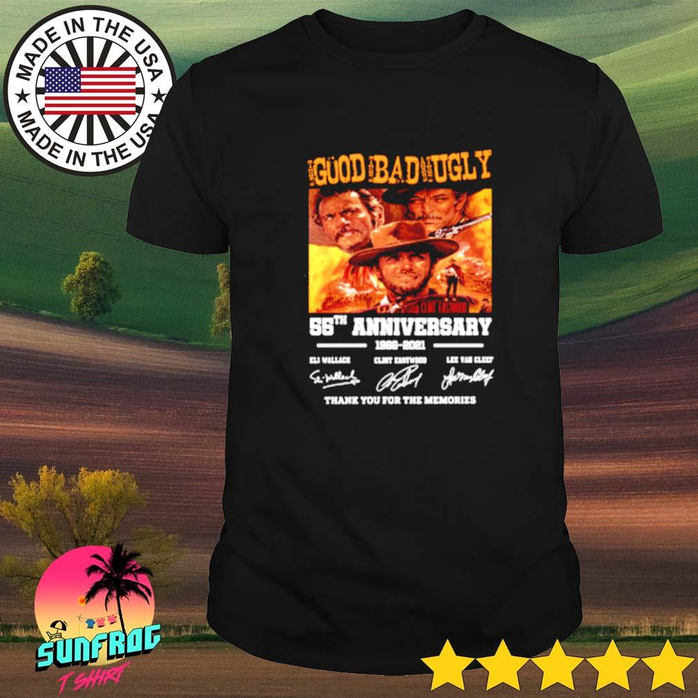 Good Bad ugly 55th anniversary 1966-2021 signatures shirt