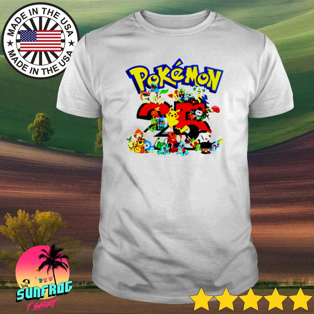Pokemon 25th anniversary shirt