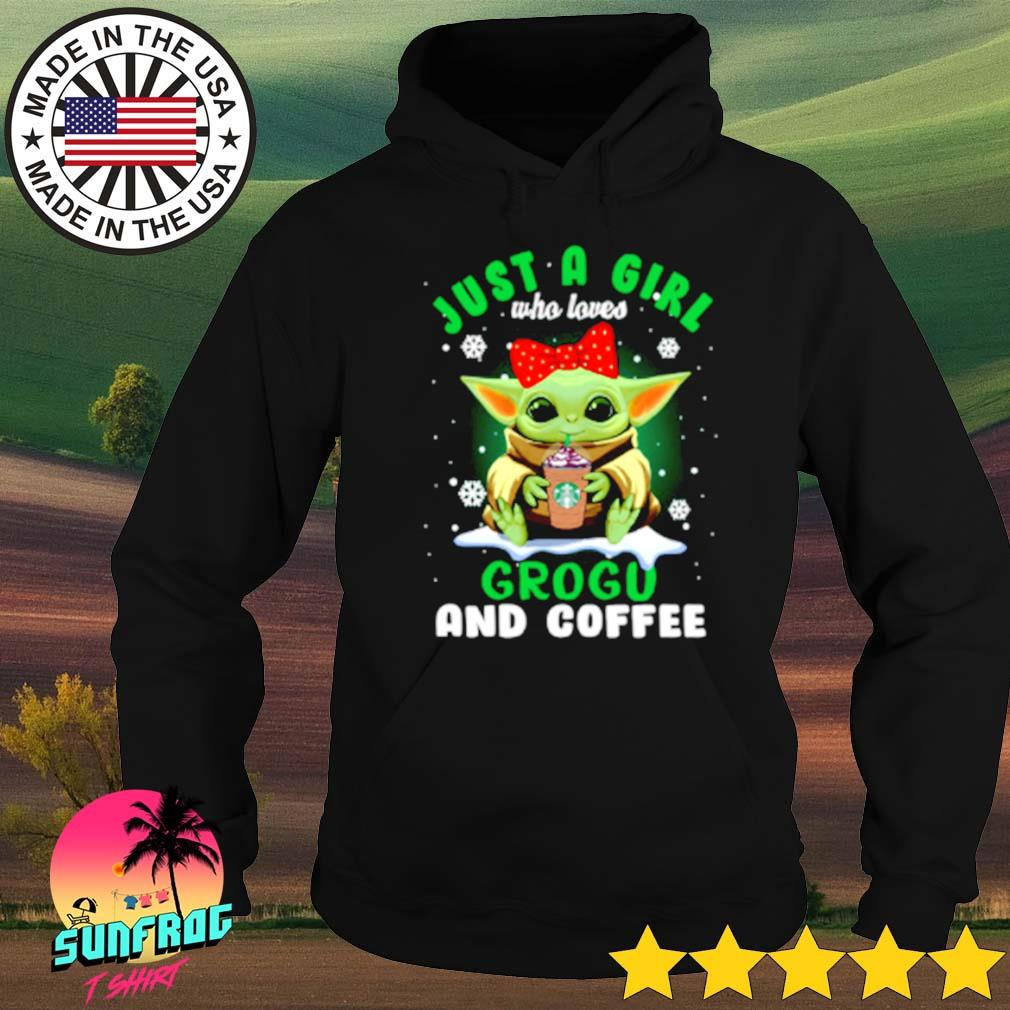 Star Wars baby Yoda just a girl who loves Grogo and coffee s Hoodie