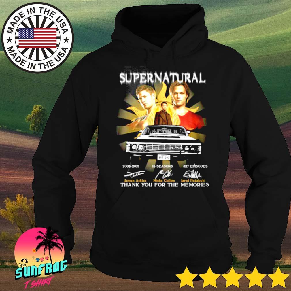 Supernatural 2005-2021 15 seasons 327 episodes signatures s Hoodie