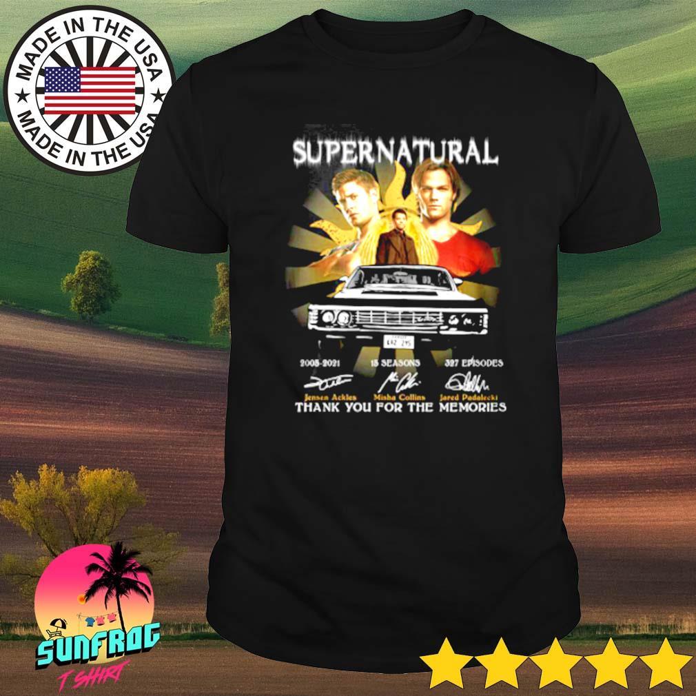 Supernatural 2005-2021 15 seasons 327 episodes signatures shirt