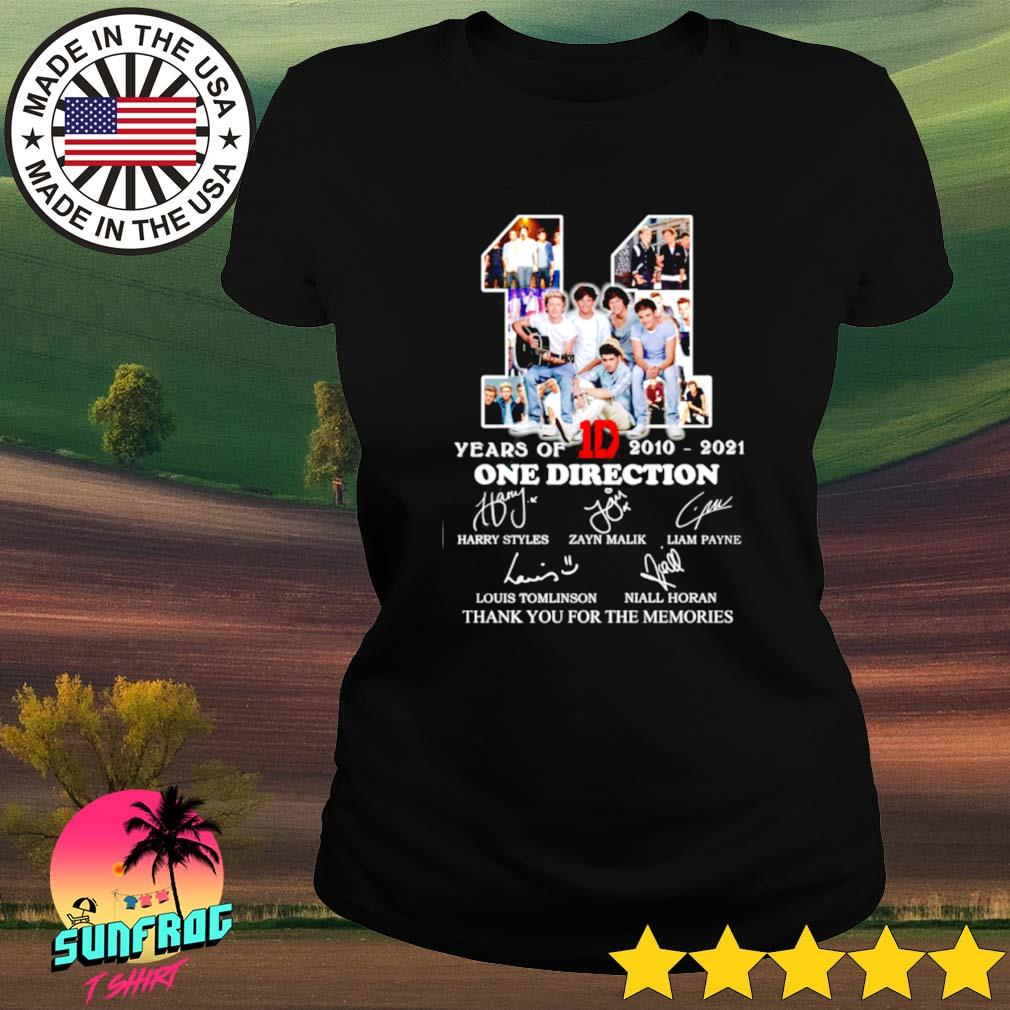 11 Years of 1D One direction 2010-2021 thank you for the memories s Ladies tee