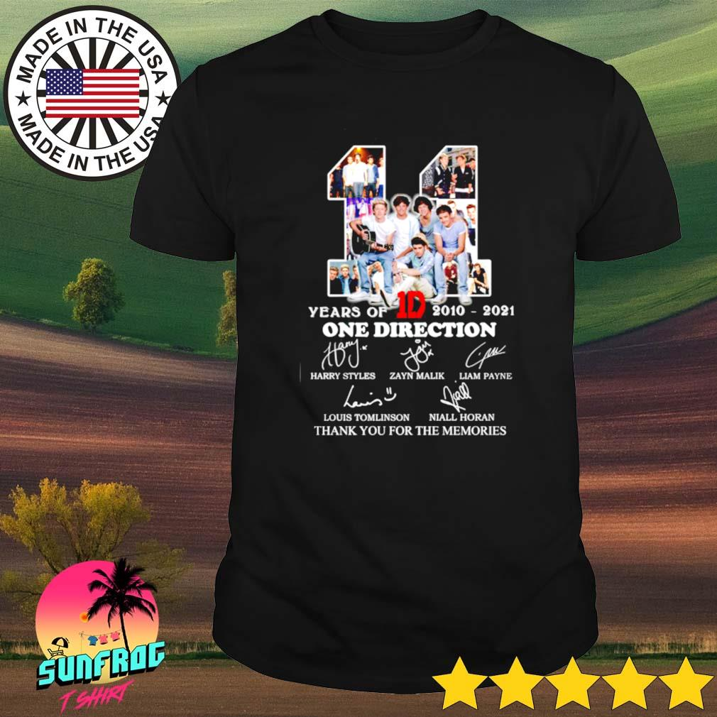 11 Years of 1D One direction 2010-2021 thank you for the memories shirt