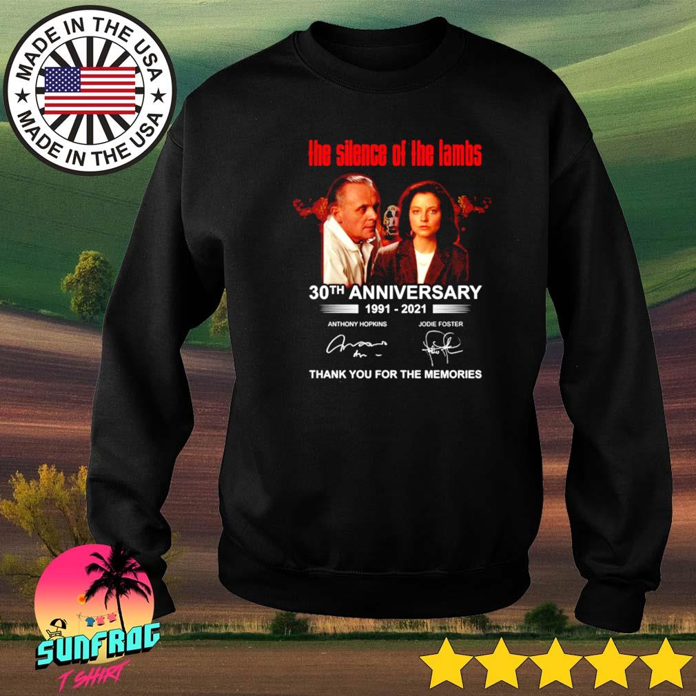 The silence of the lambs 30th anniversary 1991-2021 thank you for the memories signature s Sweater