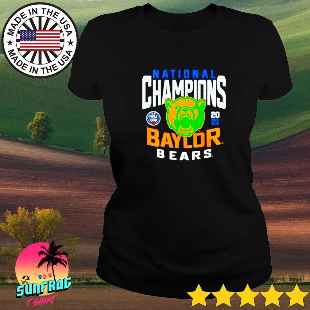 2021 Win Baylor Bears national champions Ladies tee