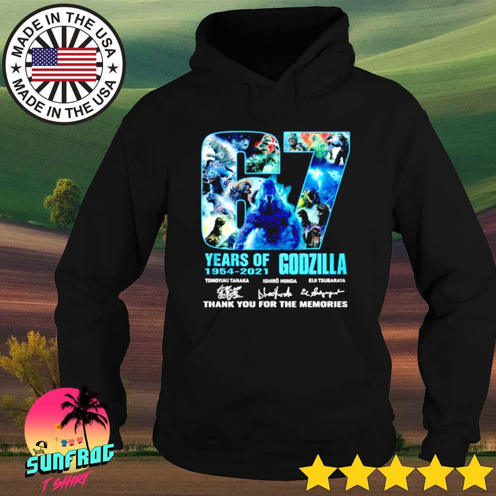 67 Years of Godzilla 1954-2021 thank you for the memories signature Hoodie