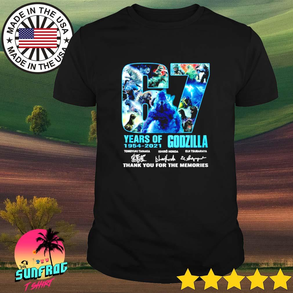 67 Years of Godzilla 1954-2021 thank you for the memories signature shirt