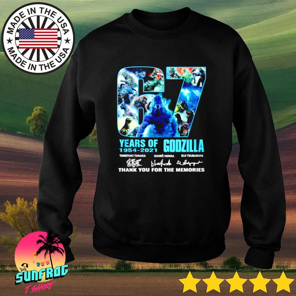 67 Years of Godzilla 1954-2021 thank you for the memories signature Sweater