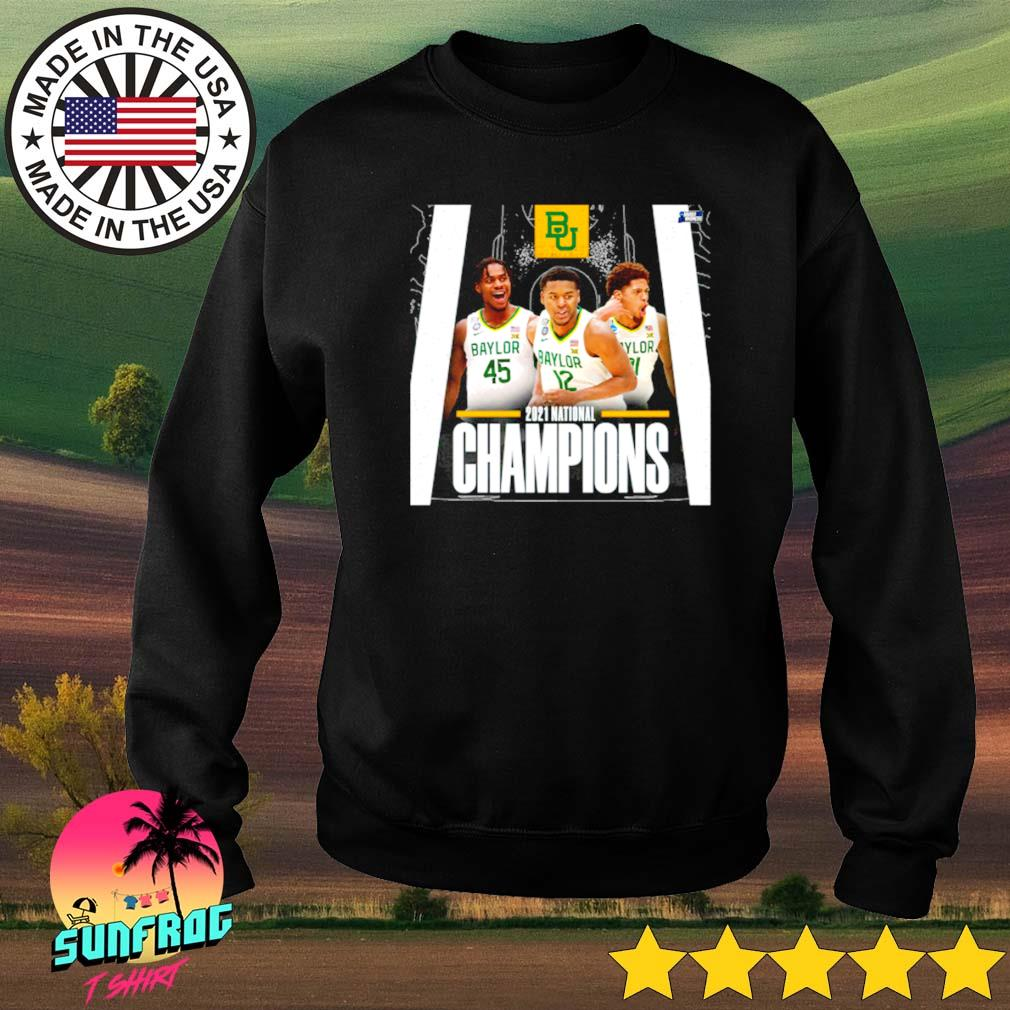 Baylor Bears 2021 national Champions Davion Mitchell Jared Butler March Madness Sweater