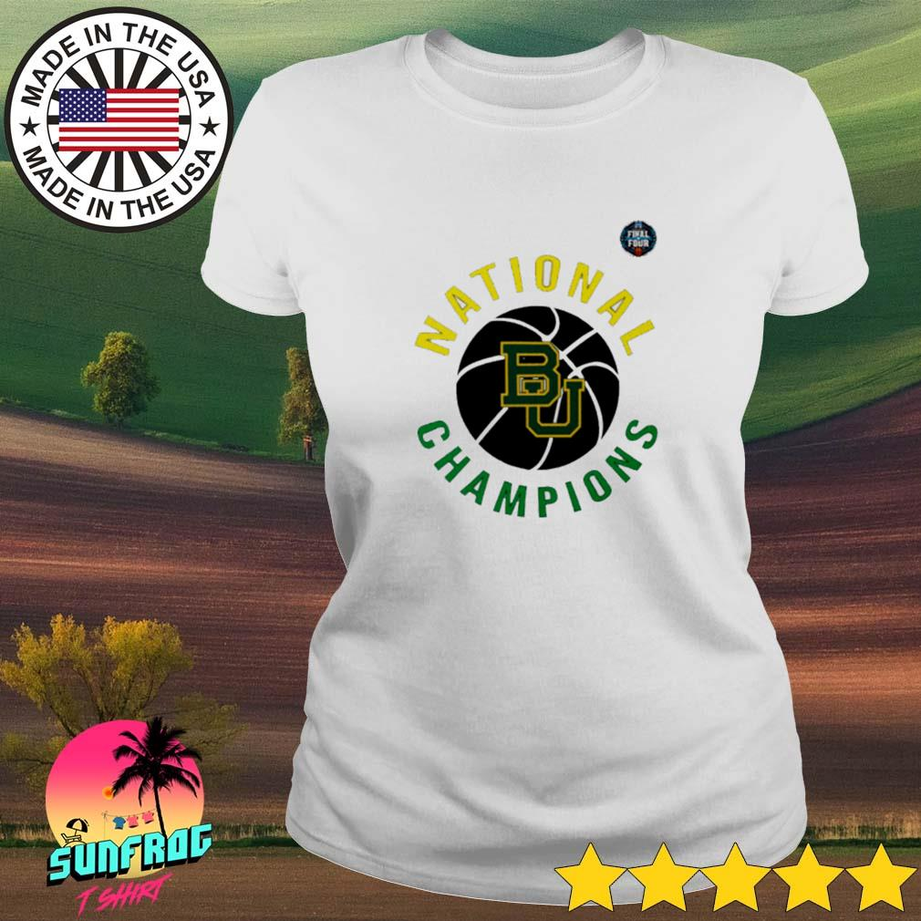Baylor Bears National Champions NCAA men's basketball final four 2021 Ladies tee