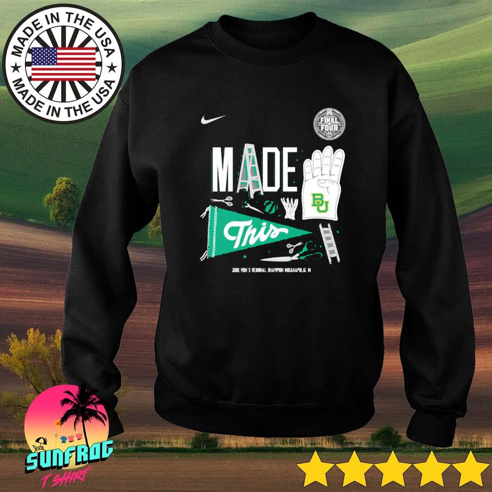 Baylor Bears Nike 2021 Men's Regional Champion Indianapolis in Sweater