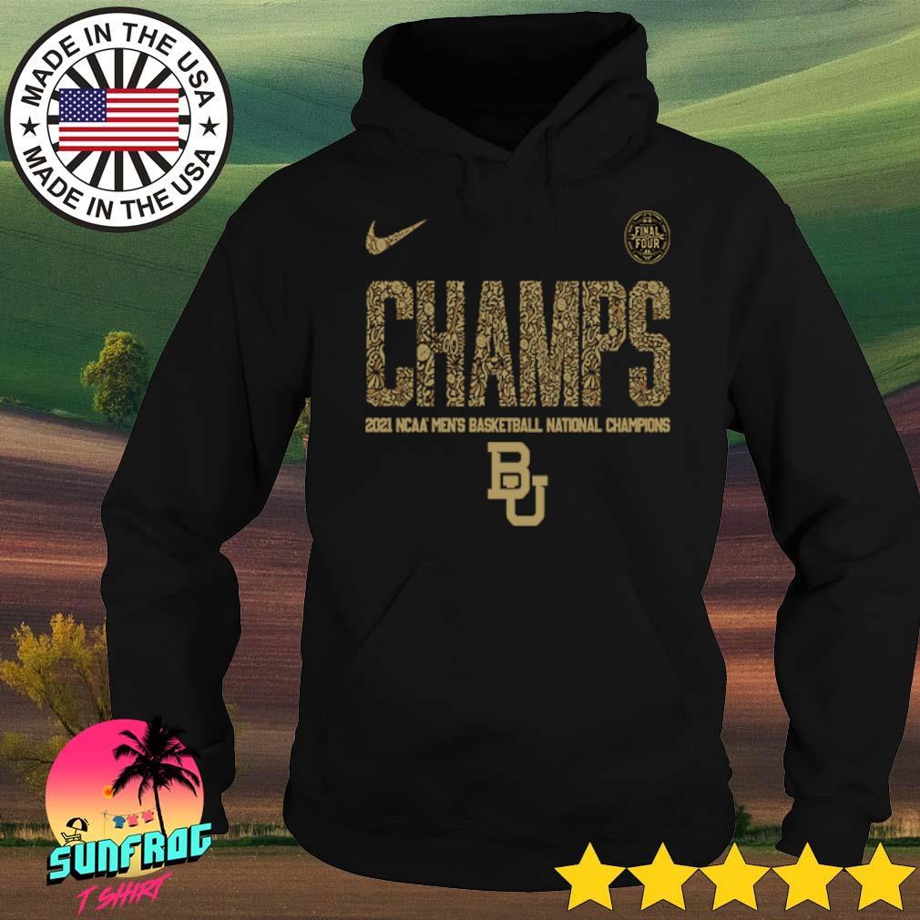 Baylor Bears Nike 2021 NCAA Men's Basketball National Champions Indianapolis Final Four Hoodie