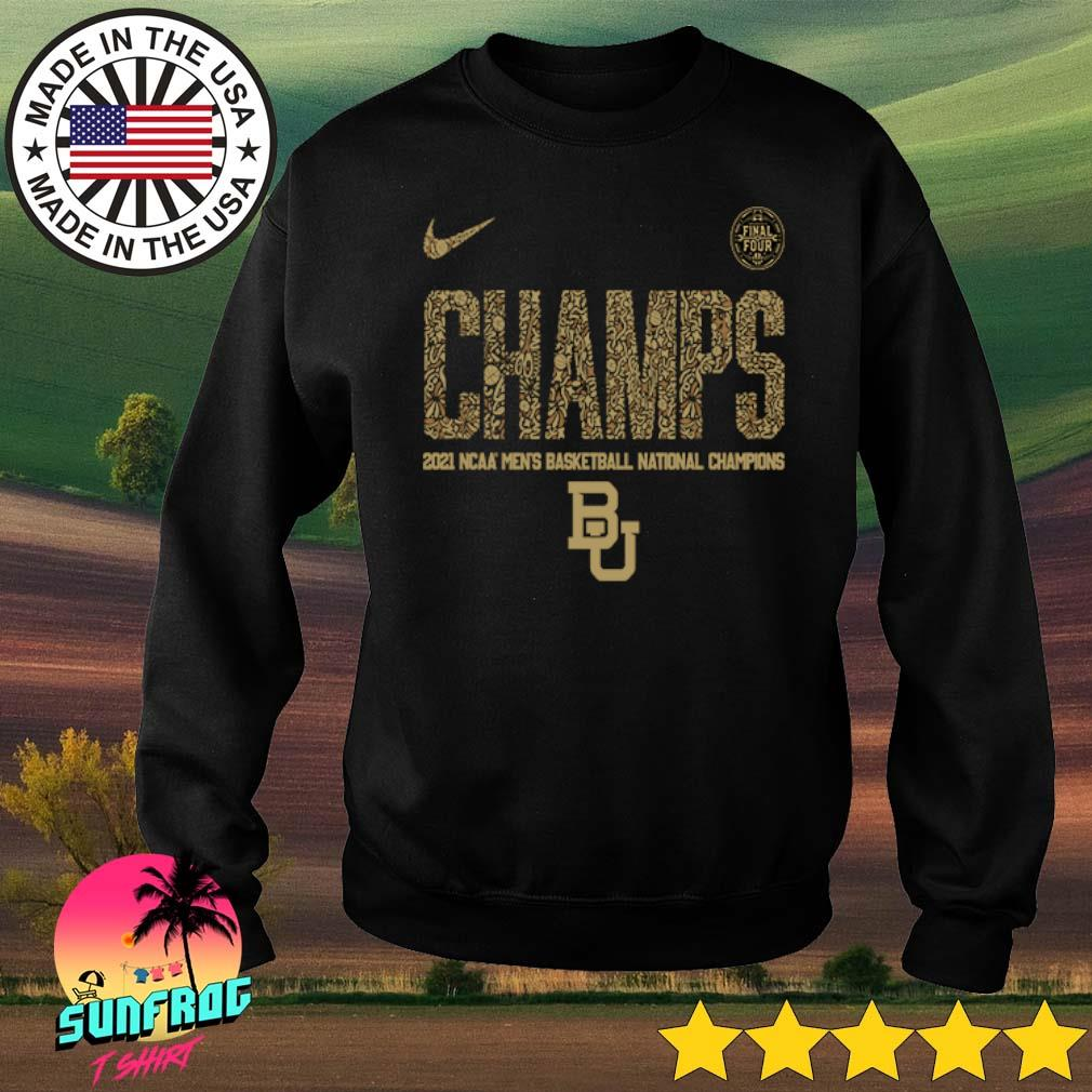 Baylor Bears Nike 2021 NCAA Men's Basketball National Champions Indianapolis Final Four Sweater