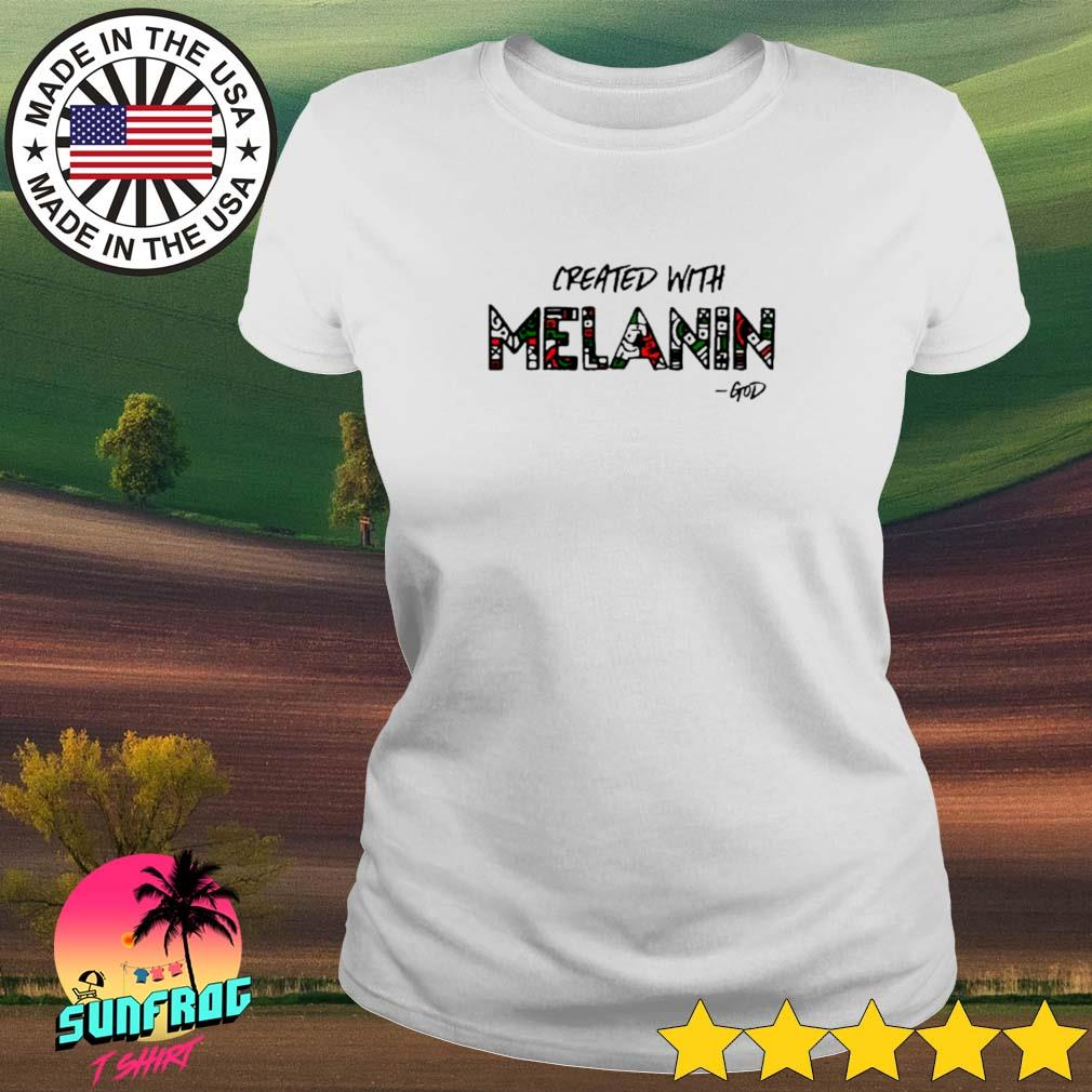 Created with Melanin God Ladies tee