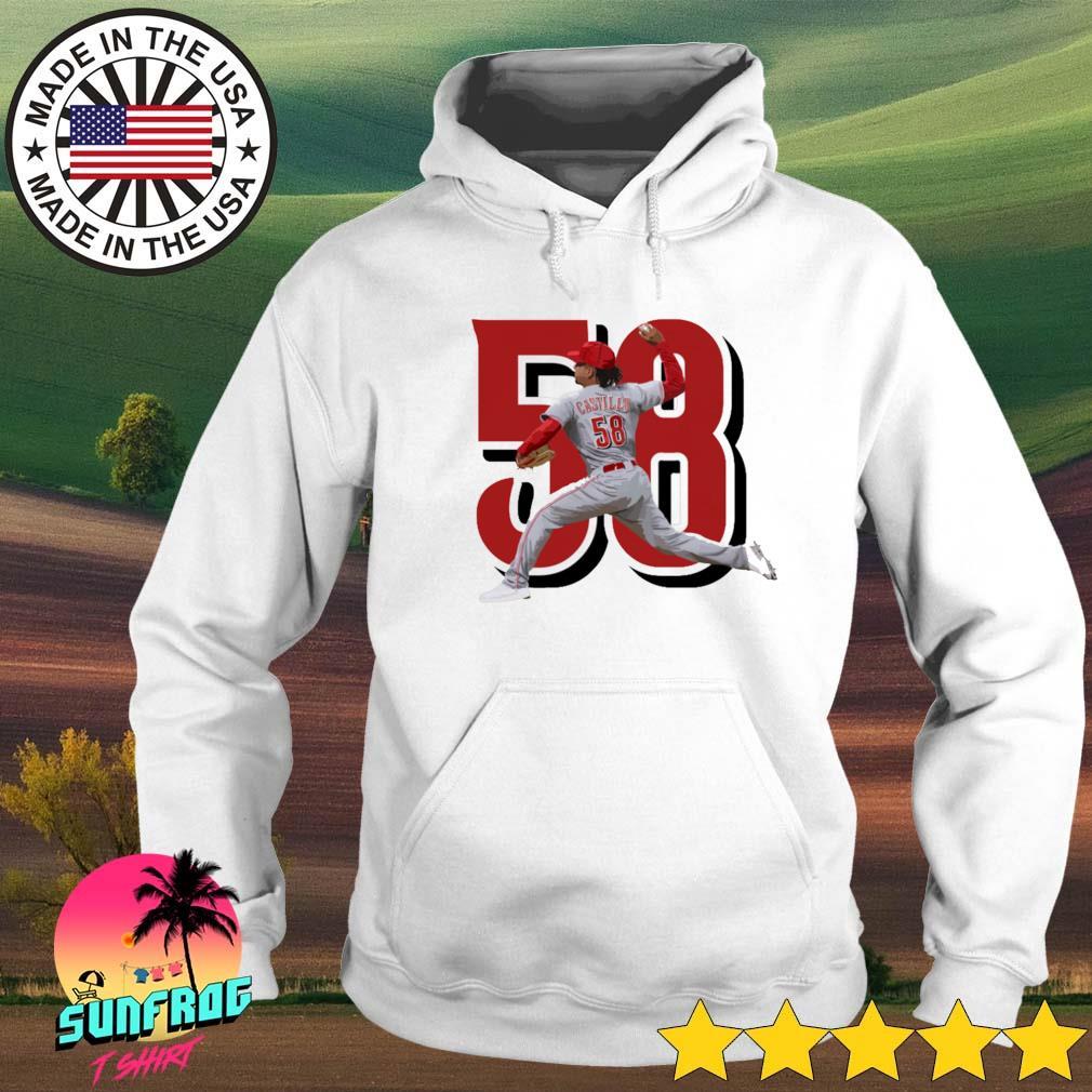 Luis Castillo 58 Cincinnati Reds baseball Hoodie