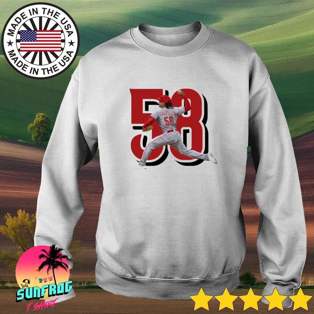Luis Castillo 58 Cincinnati Reds baseball Sweater