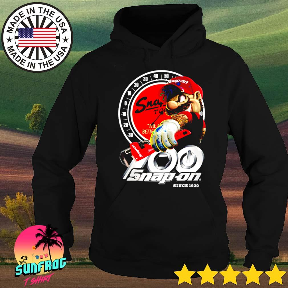 Mario holding Snapon since 1920 logo Hoodie