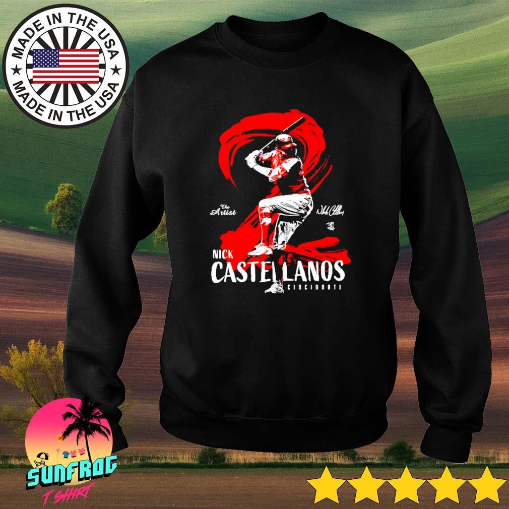 The artist Nick Castellanos Cincinnati signature Sweater