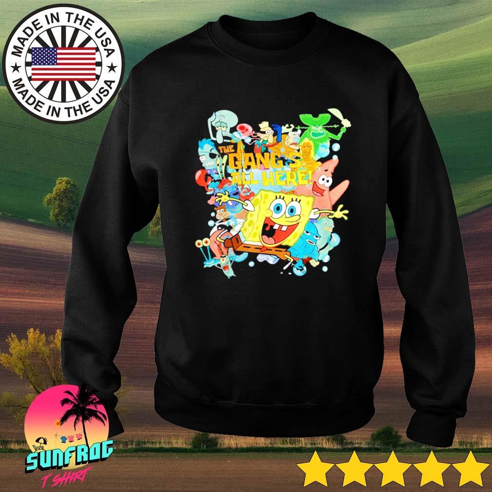 The Gangs all here Spongebob Squarepants Sweater