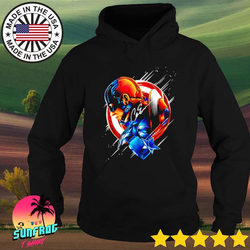 Captain America Chris Evans star light color signature Hoodie