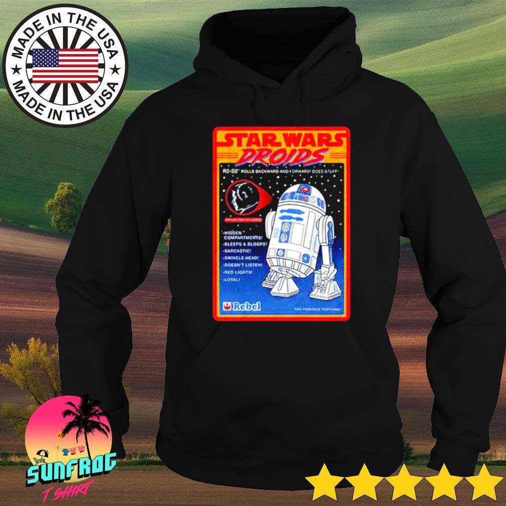 Figure Star Wars droids R2-D2 rolls backward and forward does stuff hidden compartments bleeps Hoodie