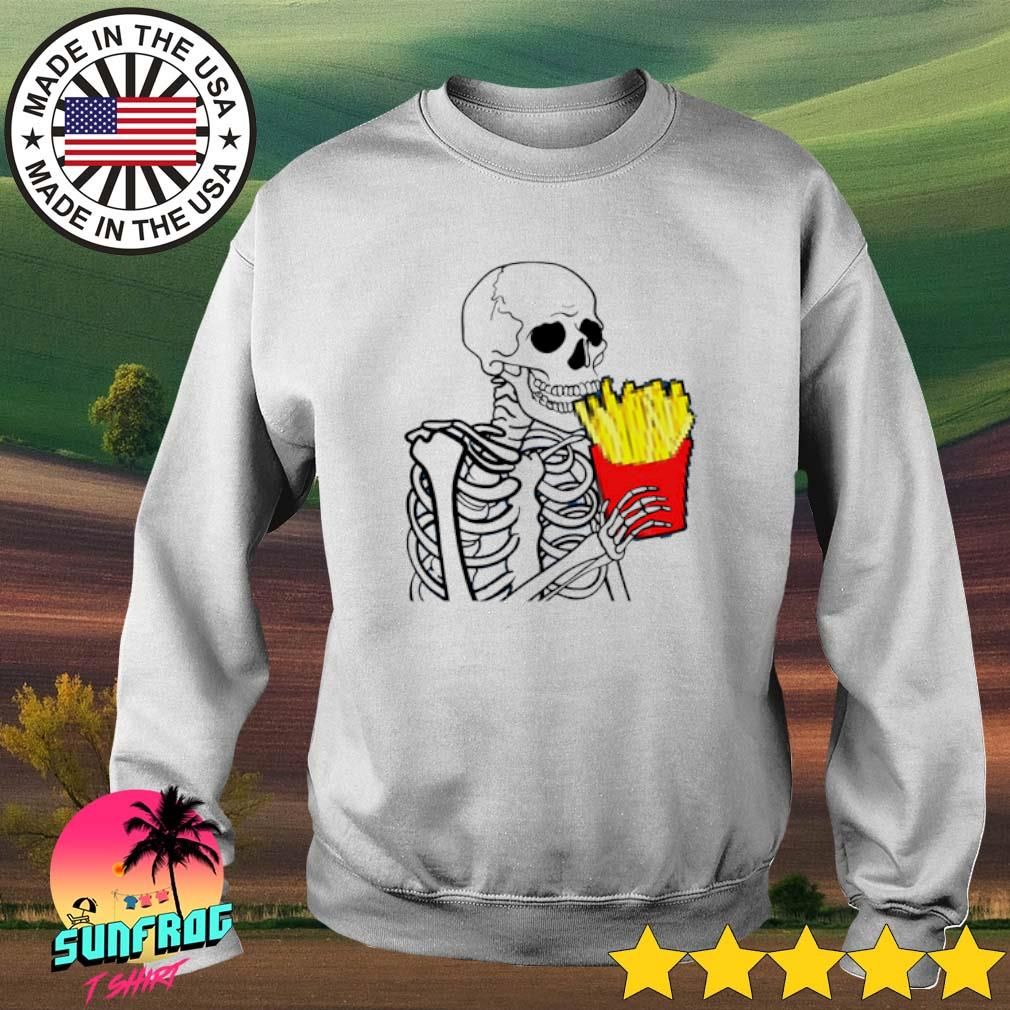 Skeleton eat 7 French Fries Sweater