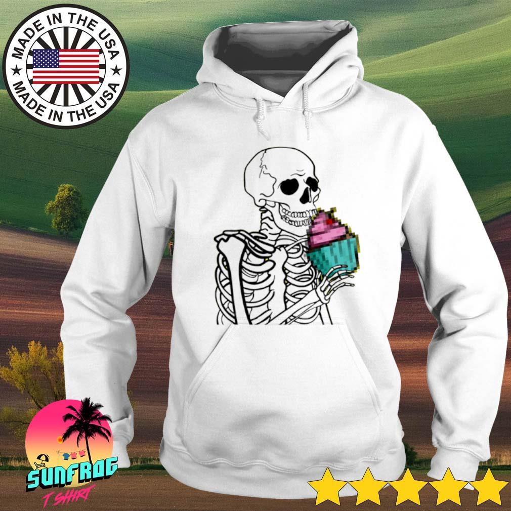Skeleton eat cupcake Hoodie