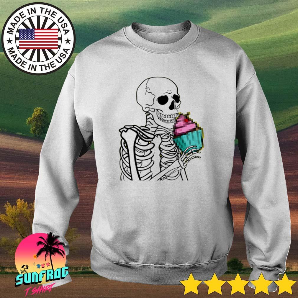 Skeleton eat cupcake Sweater