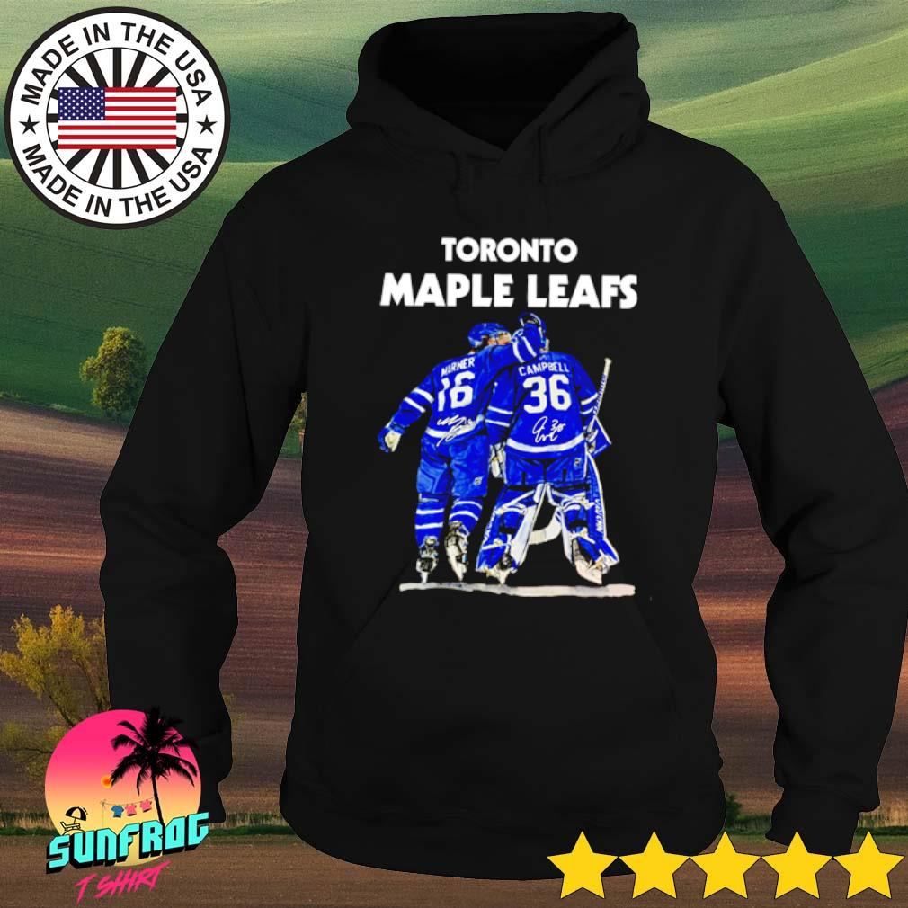 Toronto Maple Leafs Marner 16 Campbell 36 signature Hoodie