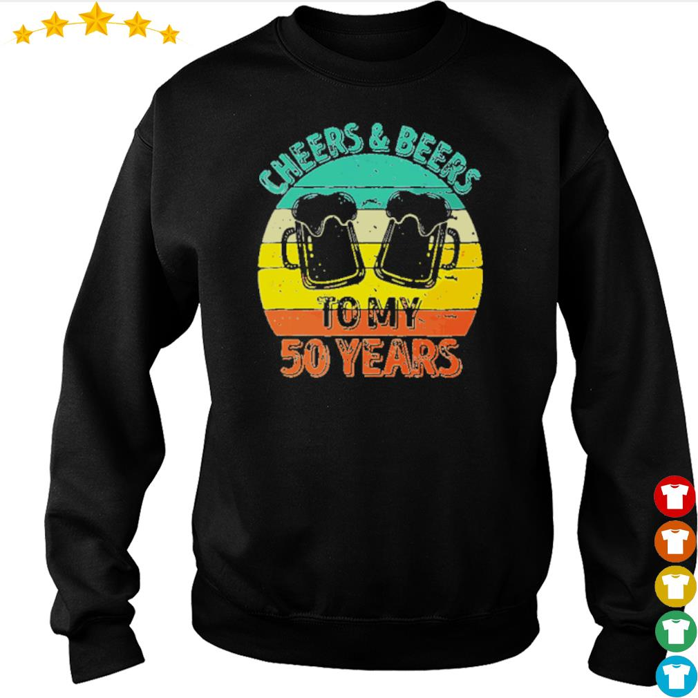 Cheers and beers to my 50 years s sweater