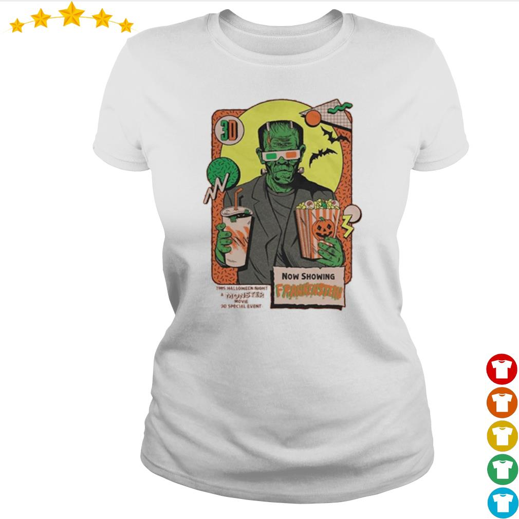 Now shopping Frankenstein this Halloween night moster movie s Ladies-tee