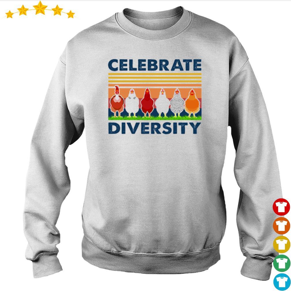 Vintage chicken celebrate diversity s Sweater