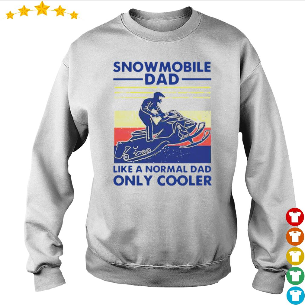 Vintage Snowmobile dad like a normal dad only cooler s Sweater
