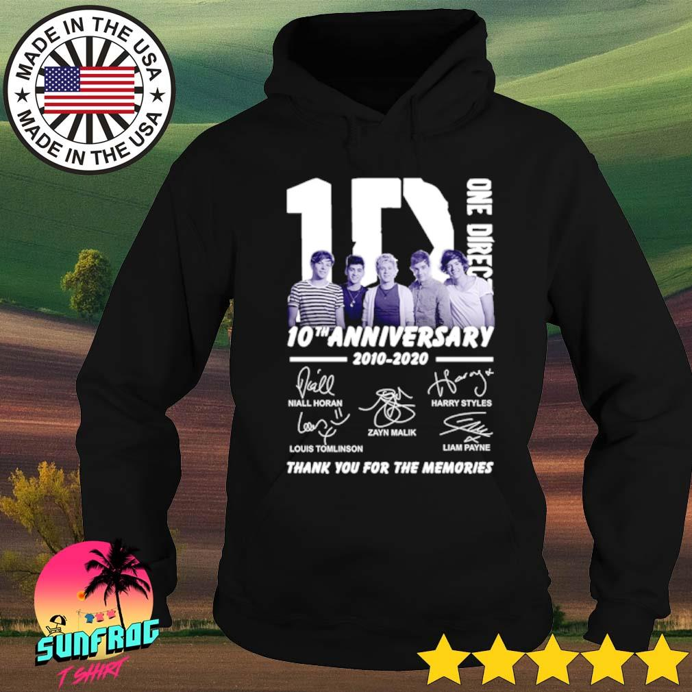 1D One Direction 10th Anniversary 2010-2020 all members signatures s Hoodie Black