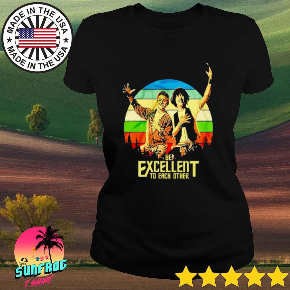 Bill and Ted's be excellent to each other s Ladies Tee Black
