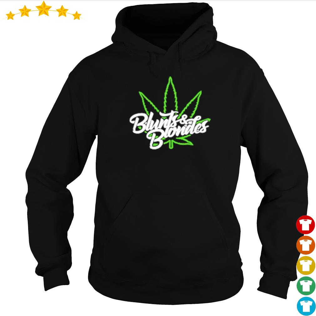 Cannabis blunts and blondes merch s hoodie