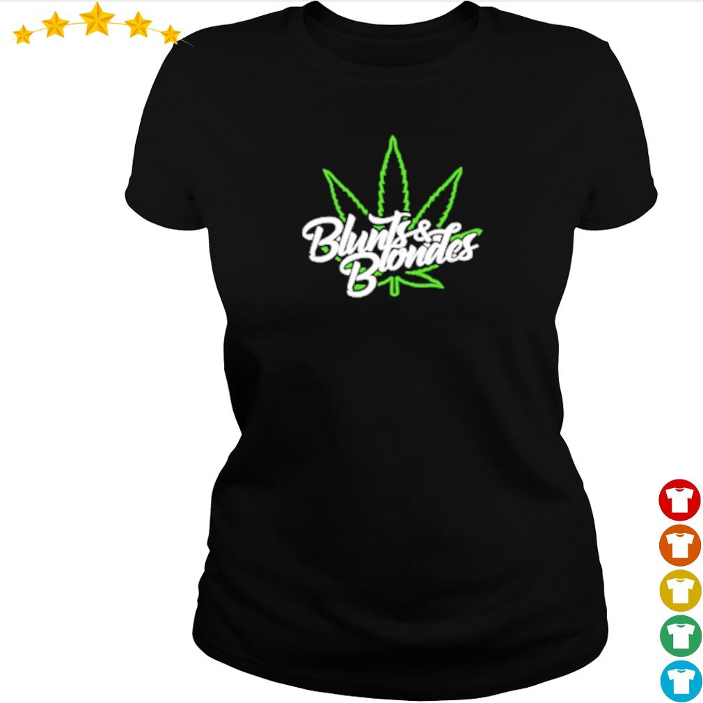 Cannabis blunts and blondes merch s ladies-tee