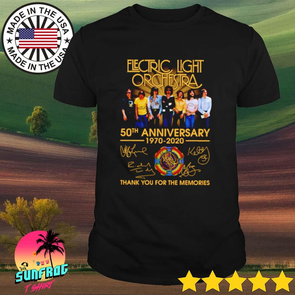 Electric Light Orchestra 50th Anniversary 1970-2020 thank you for the memories shirt