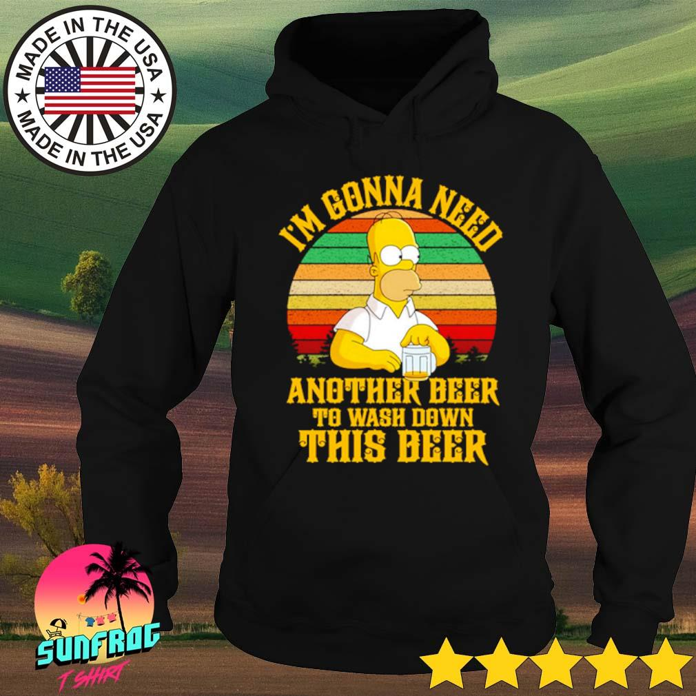 Homer Simpson I'm gonna need another beer to wash down this beer sunset s Hoodie Black