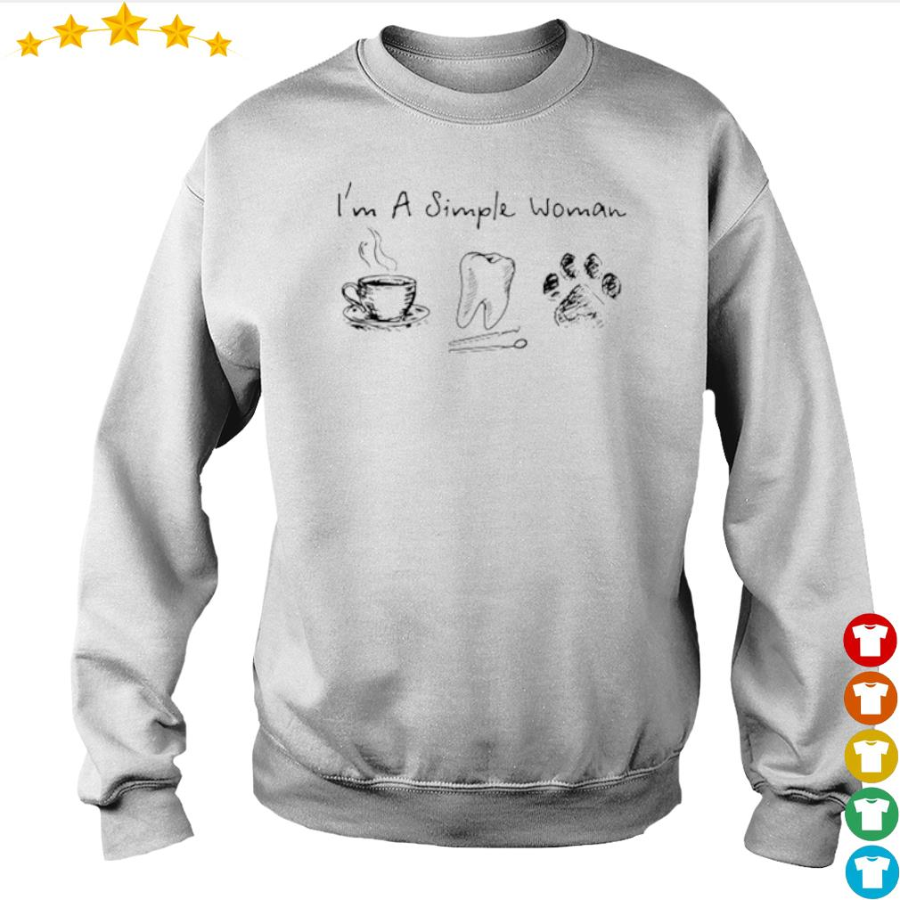 I'm a simple woman I like coffee tooth and paw dog s Sweater
