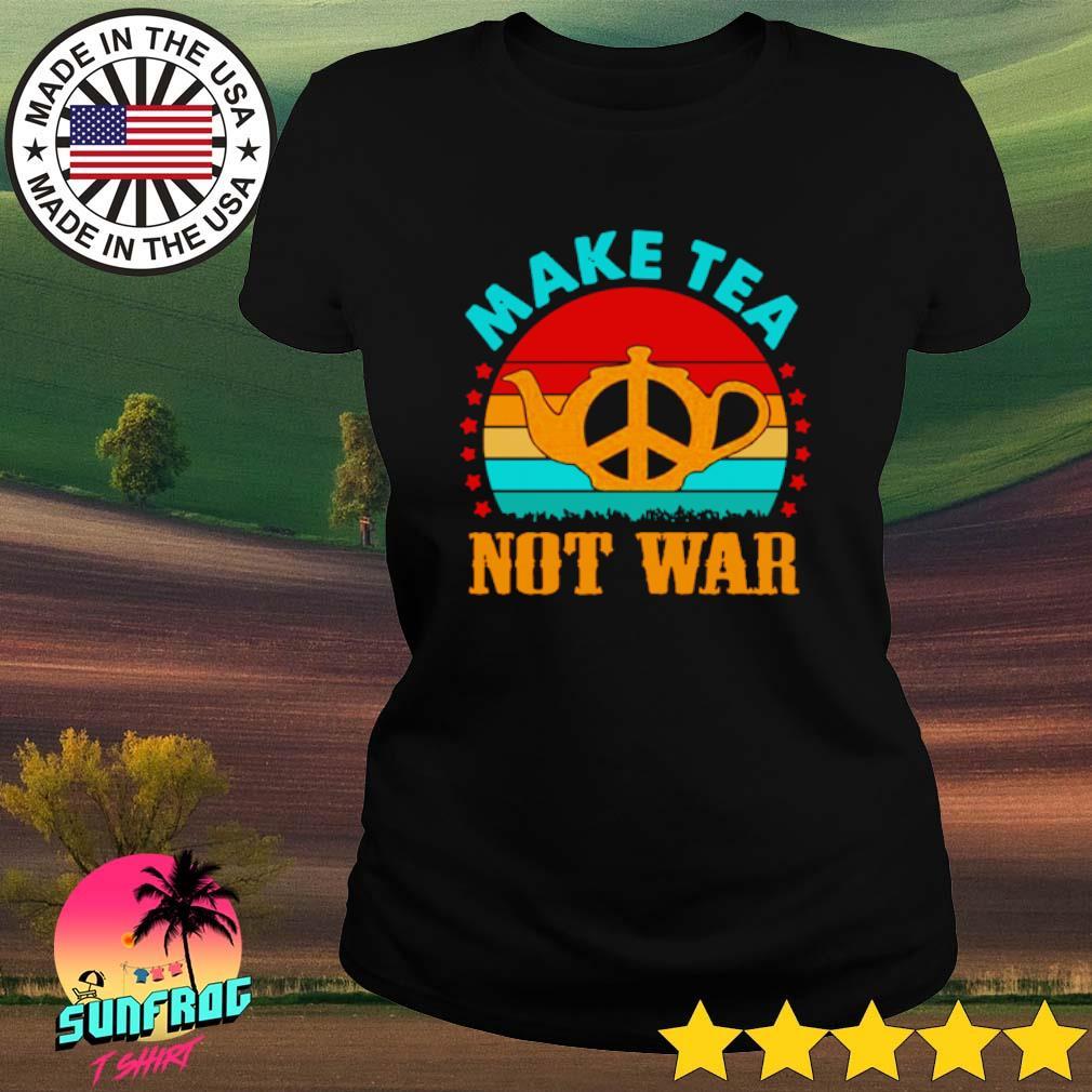 Make tea peace not war vintage s Ladies Tee Black
