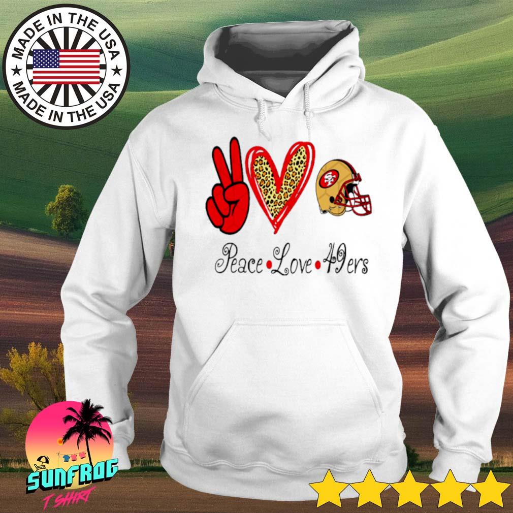 Peace Love 49ers San Francisco 49ers s Hoodie White