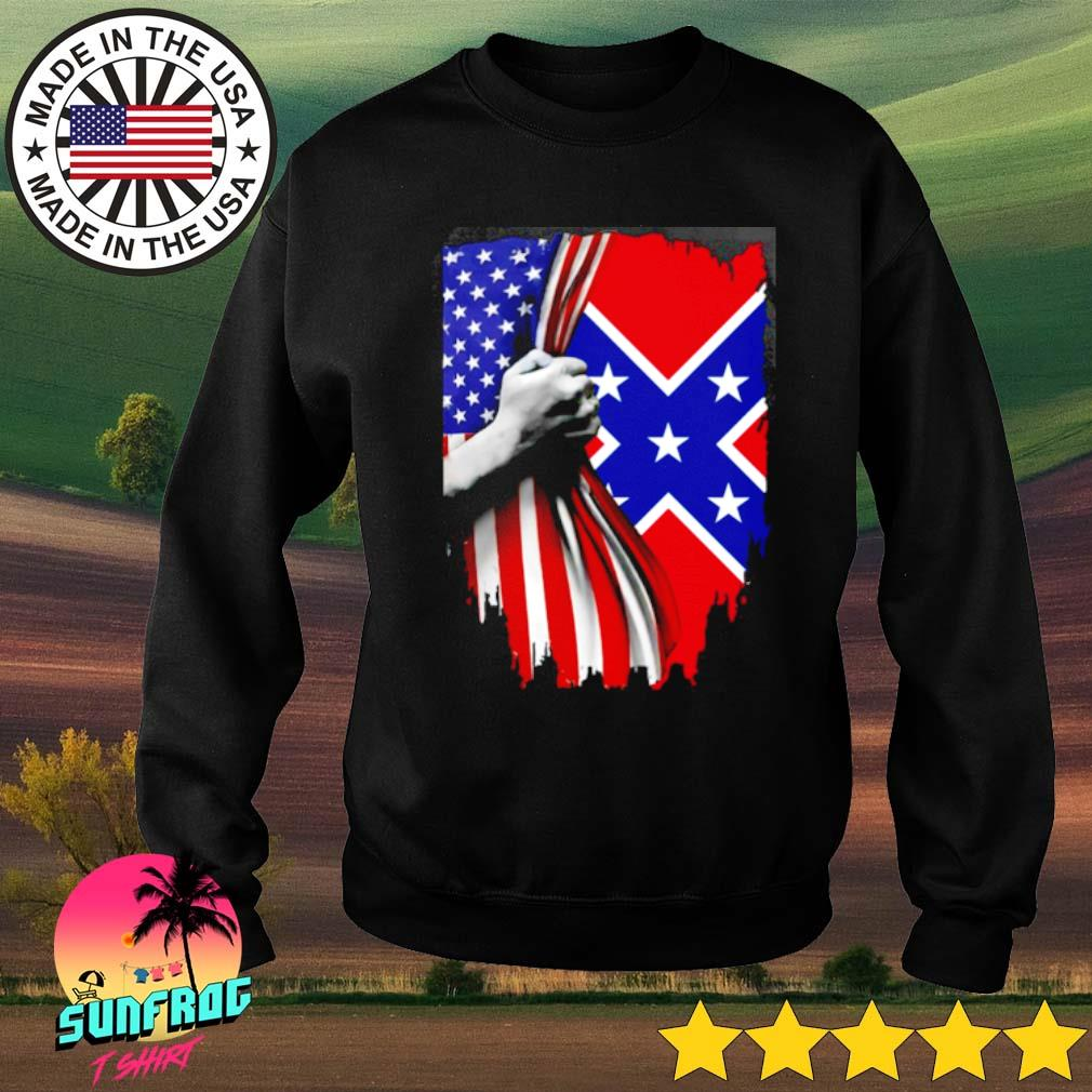 Southern United States Flag s Sweater Black