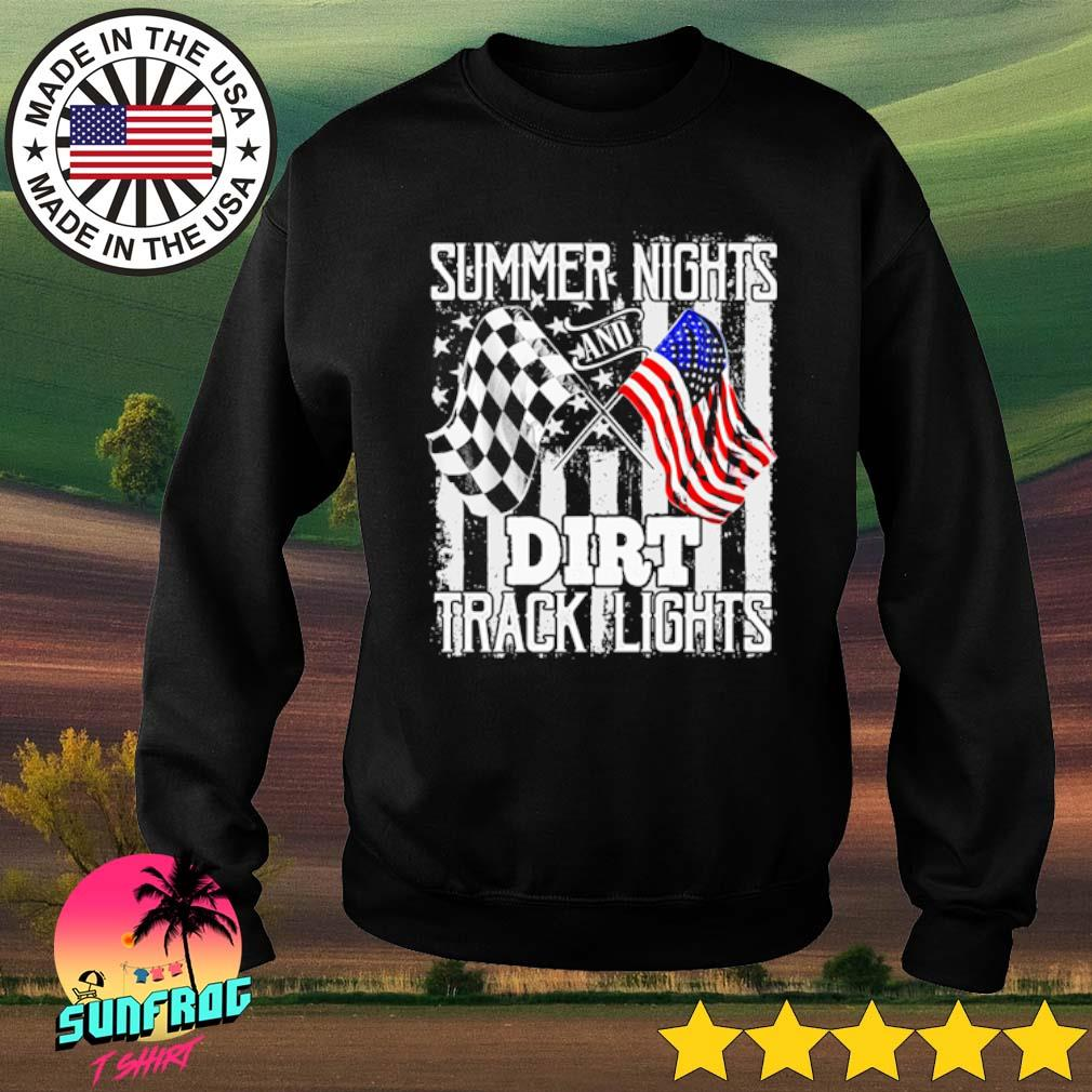 Summer Nights and Dirt Track Lights racing flag s Sweater Black