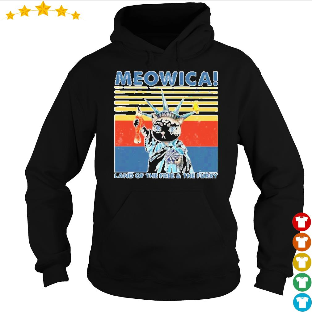 Vintage Meowica land of the free and the furry s hoodie